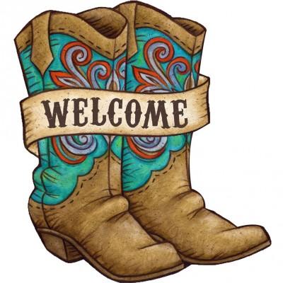 Ornement décoratif  PVC - Cowboy Boots Welcome
