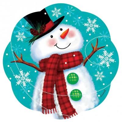 Ornement décoratif  PVC Bonhomme de neige
