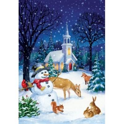 Church Snowman by Randy Wollerman