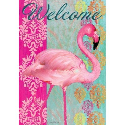 Flamingo Welcome by Gregory Gorham