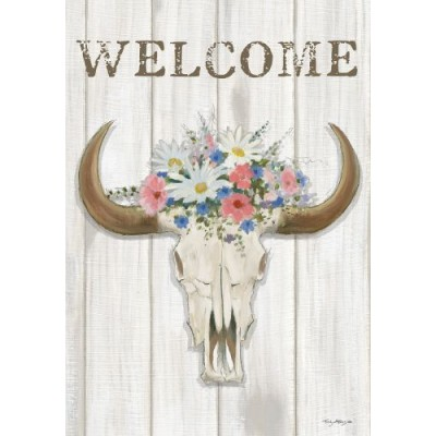 Steer Floral by Emily Adams