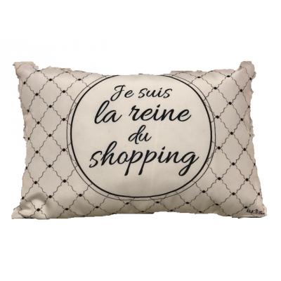 Coussin  La Reine du Shopping