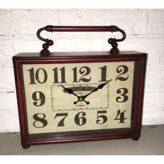Horloge de Table en Métal /25x7,5x25hcm