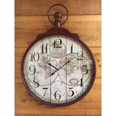 Horloge de Métal Map Monde /60x6x83