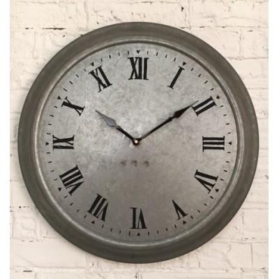 Galvanized Metal  Wall Clock  /47x9x48