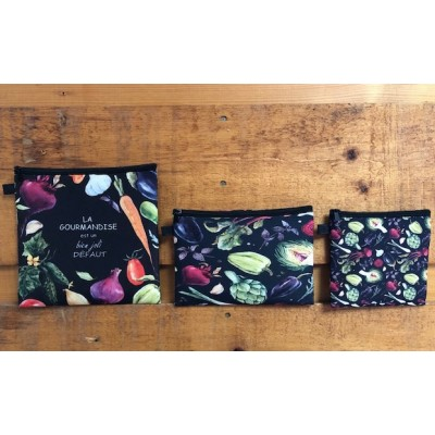 Snack Bags La Gourmandise S/3/Available sept  2019