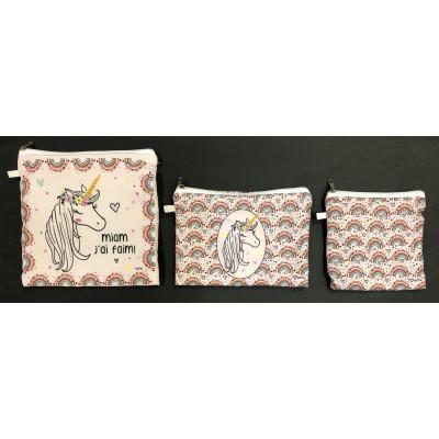 Snack Bags unicorn S/3