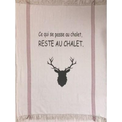 Jetté Décorative Ce Qui Se Passe Au Chalet...