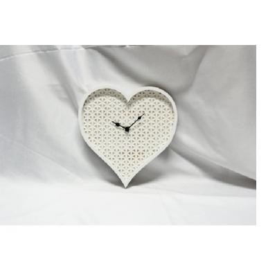 Horloge de Bois  en Coeur de Style Scandinave  30x3.5x30cm