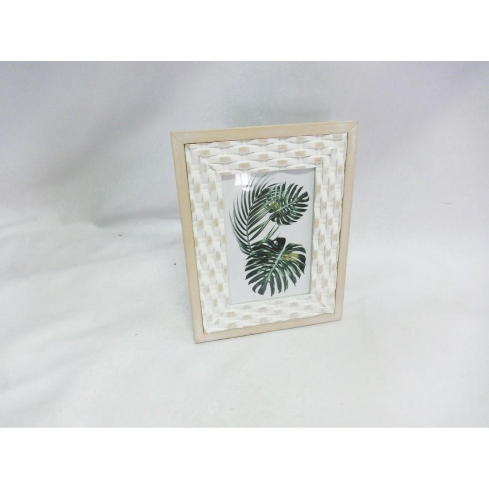 cadre photo en bois de style scandinave/5x7/ 19x1.2x24.6 cm