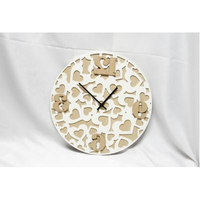 Horloge de Bois de Style Scandinave  39x3.5x39cm