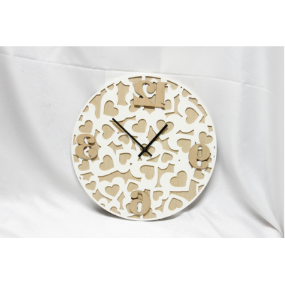 Scandinavian Wood Wall Clock 39x3.5x39cm