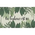 """Tablier Le Bonheur Est Ici avec pochette avant 10"""" x 6""""/Disponible sept  2019"""