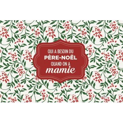 Coussin fait de polyester pour l'intérieur ou l'extérieur / Père Noël Mamie /Pre-booking hiver 2021-22 produits Lucies