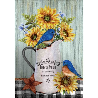 Bleubirds & Sunflowers