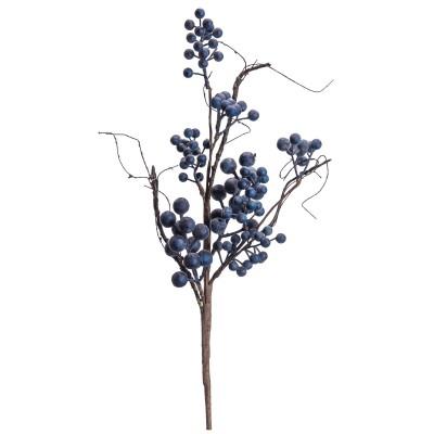 Branche de baies bleues de 20 po / Diponible fin Mars 2020