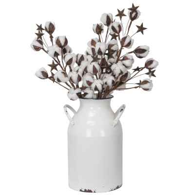 """9.5X7.75X7.75""""H Vase de métal en forme de cruche à lait"""
