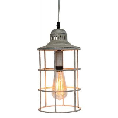 """Lampe de metal pendante Blanche de Style Nautique 7.75X7.75X12.5""""h"""