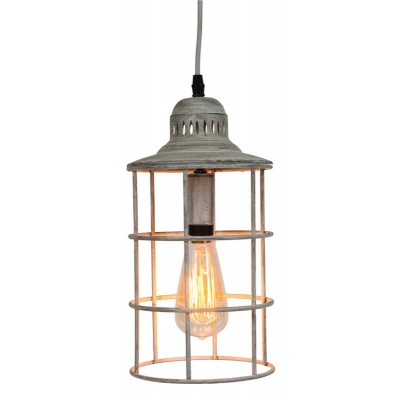 "7.75X7.75X12.5""h metal nautical lamp white"