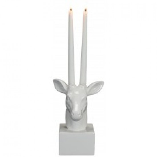 Dolomite deer head decor