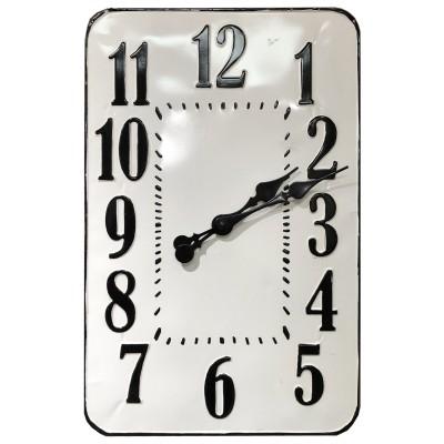 "18X1.25X28.25""H  Horloge de métal en email /murale rectangle"
