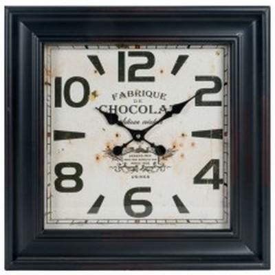 """Horloge deContour de  métal Noir   18.5x3.5x18.5""""h"""