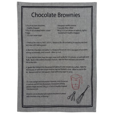 "Linge à Vaiselle 19.75X27"" PLAIN COTTON  CHOCOLATE BROWNIES"