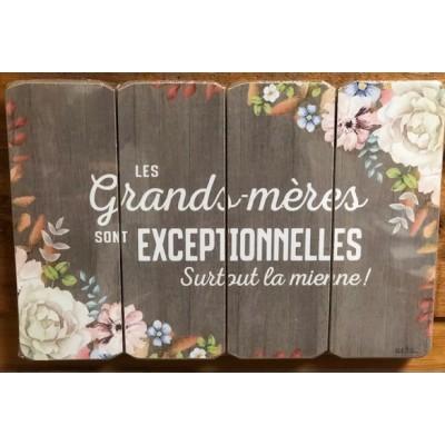 Art mural/ Plaque de Bois  Grands Mère exceptionnelles / 24x36X1.8 cm