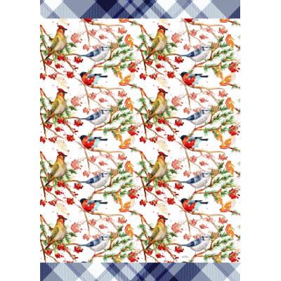 Linge à Vaisselle  100 % Cotton Oiseaux/ Disponible sept2019