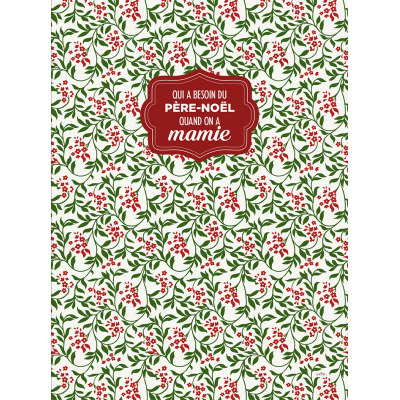Tablier  100 % Cotton Père Noël Mamie/ Disponible sept 2019