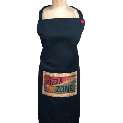 "Tablier Pizza Zone avec pochette avant 10"" x 6"""