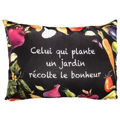 Coussin fait de   polyester pour l'intérieur ou l'extérieur / Planter un jardin