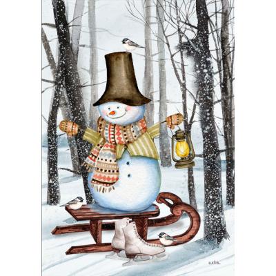 Bonhomme sur la luge - Nouveauté-hiver -Pre-booking 2021-22