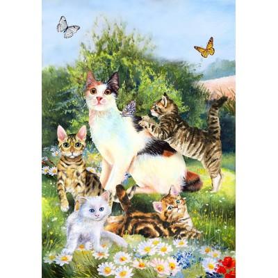 Les chats dans le jardin